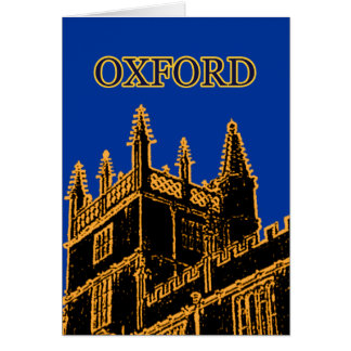 Oxford England 1986 Building Spirals Gold Greeting Cards