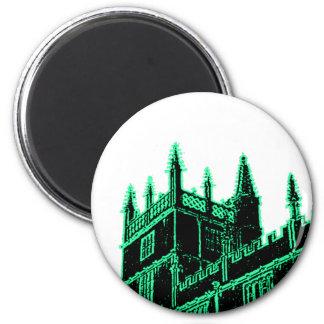 Oxford England 1986 Building Spirals Green Fridge Magnets