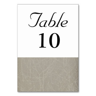 Oyster/Mink 'Tree' Table Number