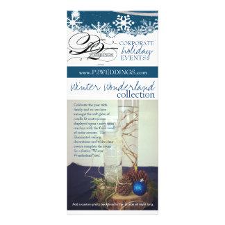 P2 Weddings Winter Wonderland Decorating Package Custom Rack Card