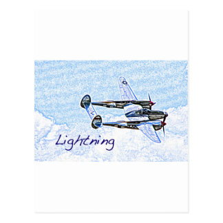 p38 Lightning world war 2 combat aircraft Postcard
