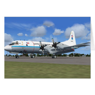 P3 Orion NOAA Weather Plane Card