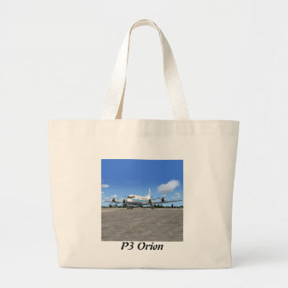 P3 Orion NOAA Weather Plane Large Tote Bag