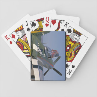 P51 Mustang, Rear View.(flag)_WWII Planes Playing Cards