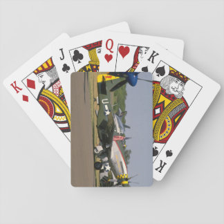 P51 Mustang, Side View.(runway)_WWII Planes Playing Cards