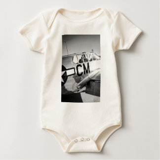 P51C Mustang WWII Fighter Plane Baby Bodysuit