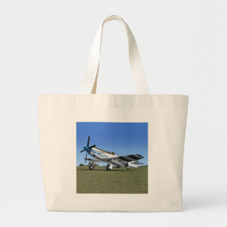 P51Mustang WW2 Fighter Plane Tote Bag
