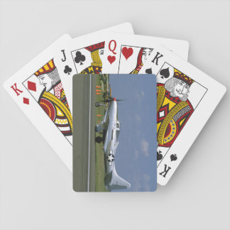 P63 King Cobra, Silver, Left Side_WWII Planes Playing Cards