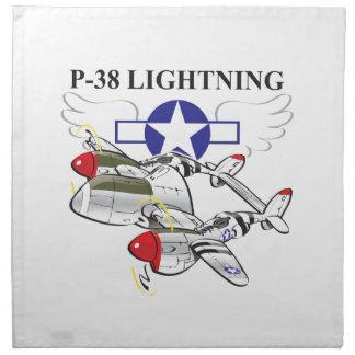 p-38 lightning napkin
