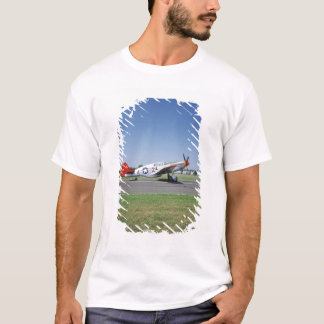 P-51 C Tuskegee Red Tail airplane at the CAF Air T-Shirt