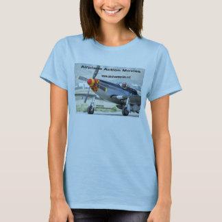 P-51 Mustang Ladie's Baby Doll T-Shirt