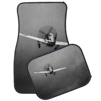 P-51 Mustang takeoff in storm Car Mat