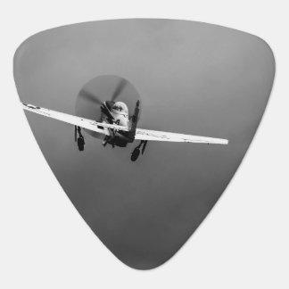 P-51 Mustang takeoff in storm Guitar Pick