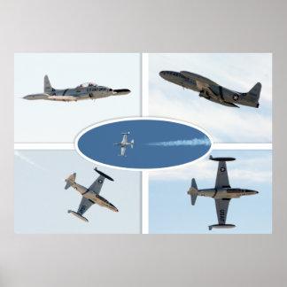 P-80 Shooting Star 5 Plane Set Poster