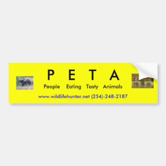 P   E   T   A, People    Eating... Bumper Sticker