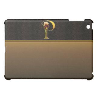 P Gold Iris Monogram  iPad Mini Cases