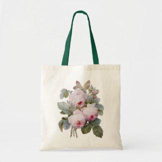 P.J. Redoute Bourbon Rose Tote Bag