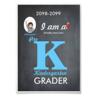 P kindergarten photo,low price,Chalkboard,frame it Photographic Print