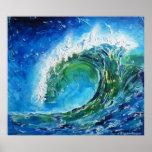 © P Wherrell Fine art oil painting wave ocean sea