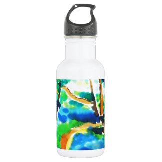 © P Wherrell Winding path woods silk painting 532 Ml Water Bottle