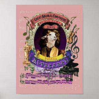 Pachelbel Spoof Parody Alpacabel Alpaca Composer Poster