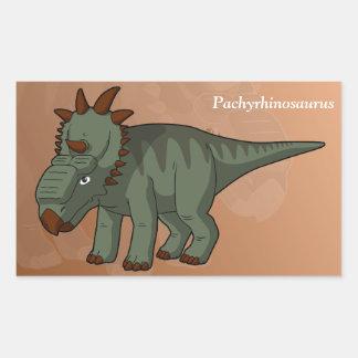 Pachyrhinosaurus Dinosaur Rectangular Sticker