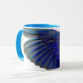 Pacific Blue Parrotlet Bird Wing Ringer Cup Mug