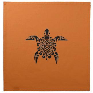 Pacific Island design tattoo style Turtle Napkins