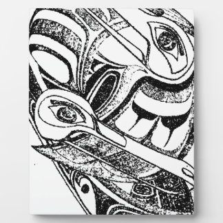 Pacific NW Coast Native Totem Raven and Seagull Plaques