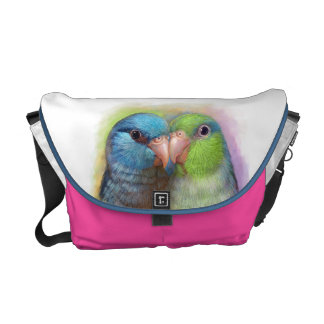 Pacific parrotlet parrot realistic painting courier bag