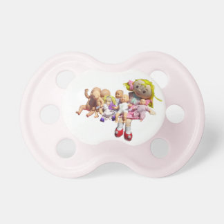Pacifier for 0-6 mths - Nine Dolls in a Row