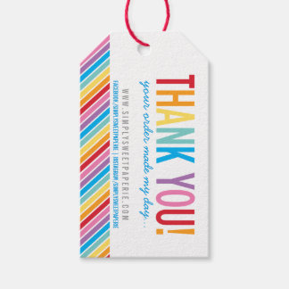 PACKAGING THANK YOU bold colorful rainbow stripe