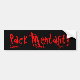 Packmentality Pack Bumper sticker