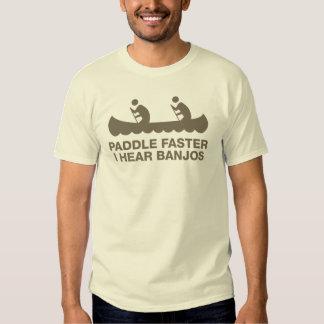 Paddle Faster Banjos T-shirts