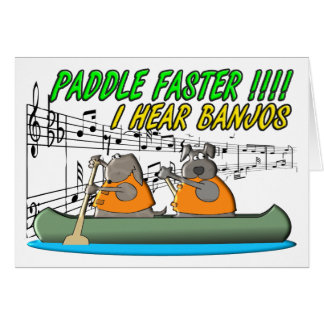 Paddle Faster !!!! Greeting Card