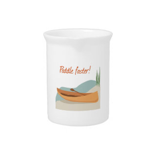 Paddle Faster Beverage Pitchers