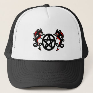 Pagan Dragons with Pentacle Hat
