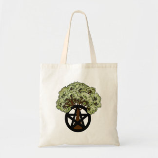 Pagan Pentacle Summer Tree Tote Bag