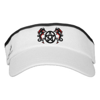 Pagan Pentacle with Red and Black Dragons Visor