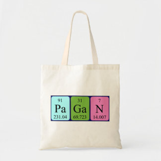 Pagan periodic table name tote bag
