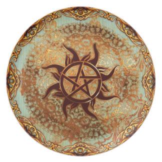 Pagan Renaissance: Solstice Pentacle Dinner Plates
