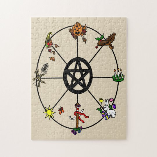 Pagan Wicca Wheel of the Year Jigsaw Puzzle