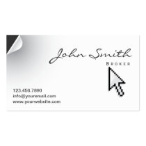 Page Curl Real Estate Broker Business Card