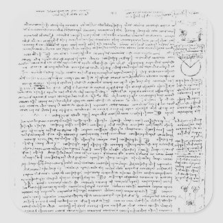 Page from the Codex Leicester, 1508-12 Square Sticker