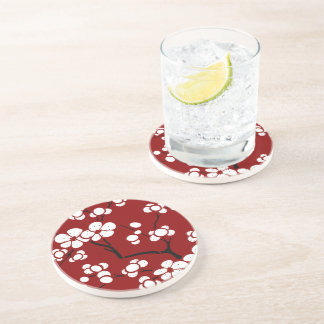 Pagoda Style Coasters in Red