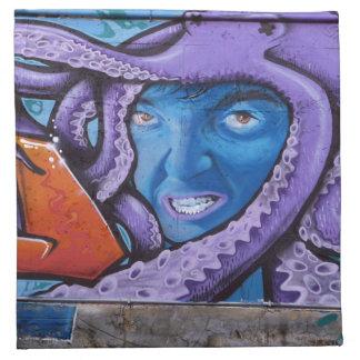 Pain Tentacles Graffiti Napkin