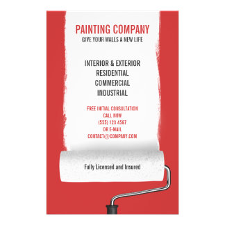 Paint Roller Painting Company Contractor flyer