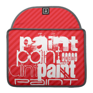 Paint; Scarlet Red Stripes Sleeve For MacBook Pro