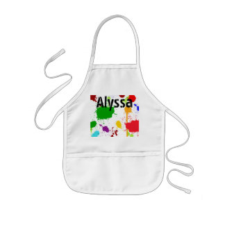 Paint Splats Personalised Kid's Apron
