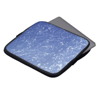 Paint Splatter | Blue and White Laptop Sleeve